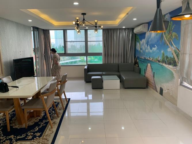 Không gian căn hộ Green Valley, Quận 7 Căn hộ Góc Green Valley tầng 3 thiết kế hiện đại, đầy đủ nội thất.