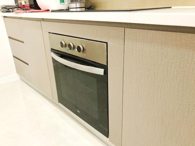 Nội thất bếp Masteri Millennium Quận 4 Căn hộ tầng cao Masteri Millennium nội thất hiện đại, view Q1.