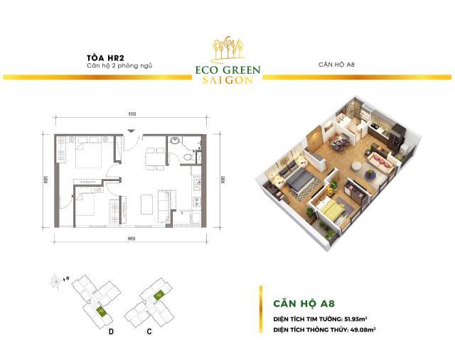 Căn hộ Eco Green Saigon tầng cao, view hướng đón gió thoáng mát