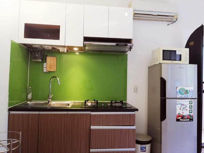 Phòng bếp căn hộ dịch vụ Quận 10 Cho thuê căn hộ dịch vụ đường Ba tháng Hai, Quận 10, diện tích 35m2, cách Nhà hát Hòa Bình 200m