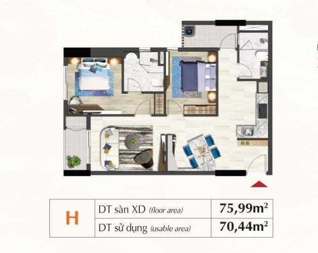 Layout Saigon South Residence  Căn hộ Saigon South Residence tầng thấp, ban công hướng Đông.