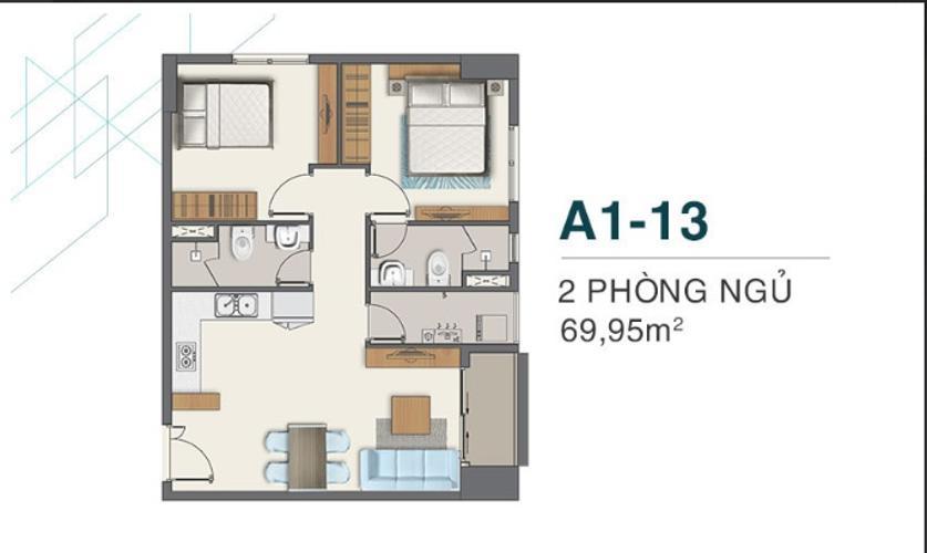 Bán căn hộ Q7 Boulevard tầng trung diện tích 69.95m2, ban công hướng Đông
