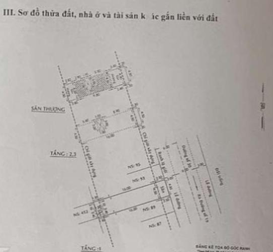 Bản vẻ nhà phố Quận Bình Tân Nhà phố mặt tiền đường 30 hướng Đông có sân thượng, đầy đủ nội thất.