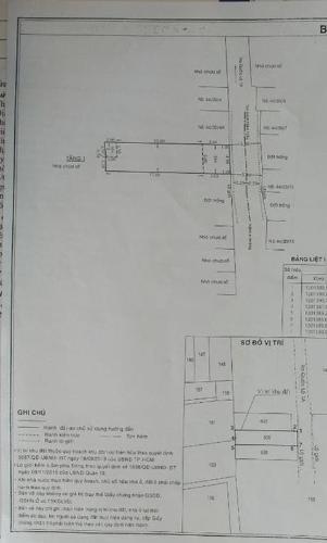 Thông tin nhà phố Quận 12 Nhà phố 1 trệt mặt tiền hẻm xe hơi rộng 5m, cửa chính hướng Đông.