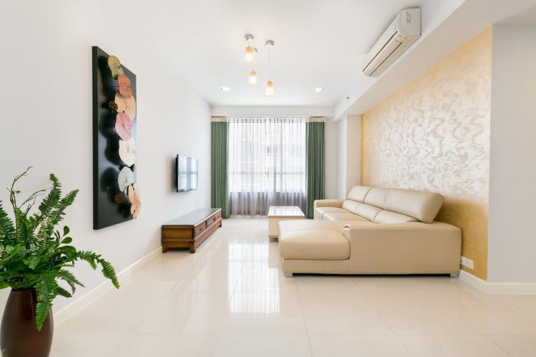 Phòng khách Sunrise City, Quận 7 Căn hộ tầng cao Sunrise City đầy đủ nội thất, view thành phố.