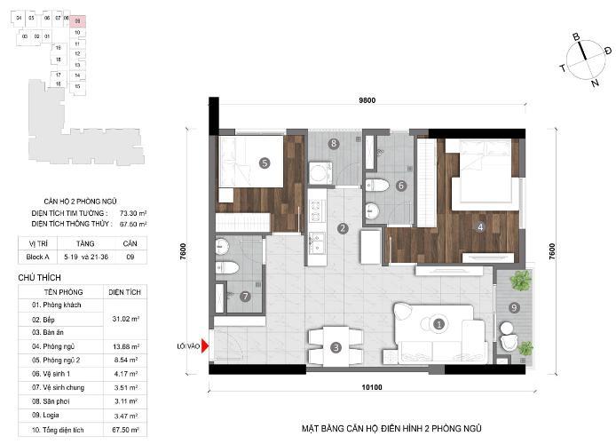 Căn hộ Opal Skyline tầng 11 nội thất cơ bản, hiện đại.