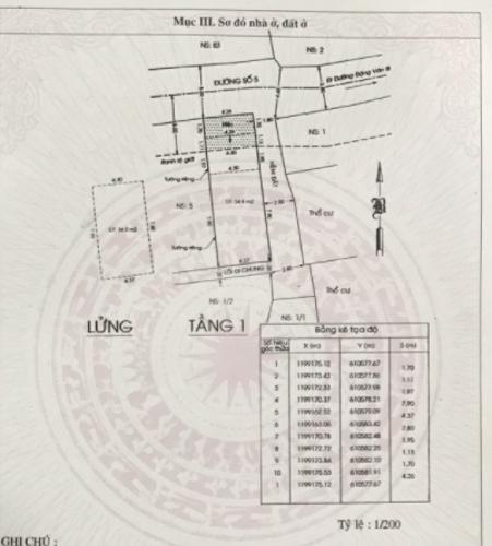 Bản vẽ nhà phố đường số 5, Thủ Đức Nhà phố hướng Bắc, đường oto rộng rãi, giao sổ hồng riêng.