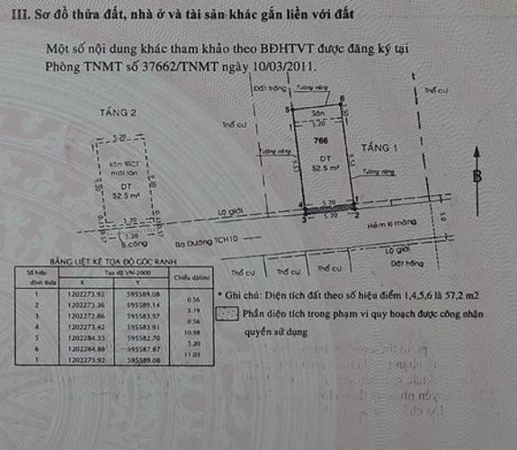Bản vẽ nhà phố Tân Chánh Hiệp 10, Quận 12 Nhà phố hẻm xe hơi hướng Nam, cách đường chính hơn 100m.