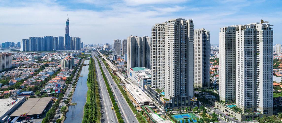 Masteri Thảo Điền Quận 2 Căn hộ Masteri Thảo Điền view thành phố và sông, hướng Tây.