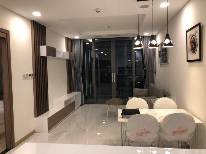 Phòng khách Vinhomes Central Park Căn hộ Vinhomes Central Park, tầng trung đầy đủ nội thất