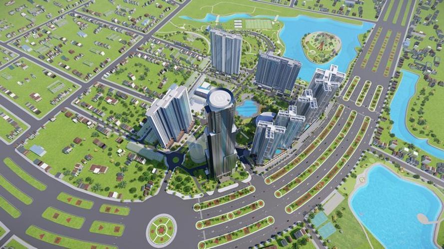 Toàn cảnh dự án Eco Green Saigon Căn hộ Eco Green Saigon đầy đủ nội thất, view Bitexco Quận 1.