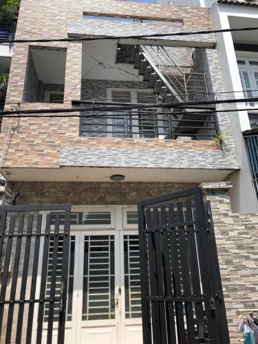 Hình chính diện nhà phố Nhà phố Bình Tân kết cấu 1 trệt 1 lầu, kèm nội thất cơ bản.