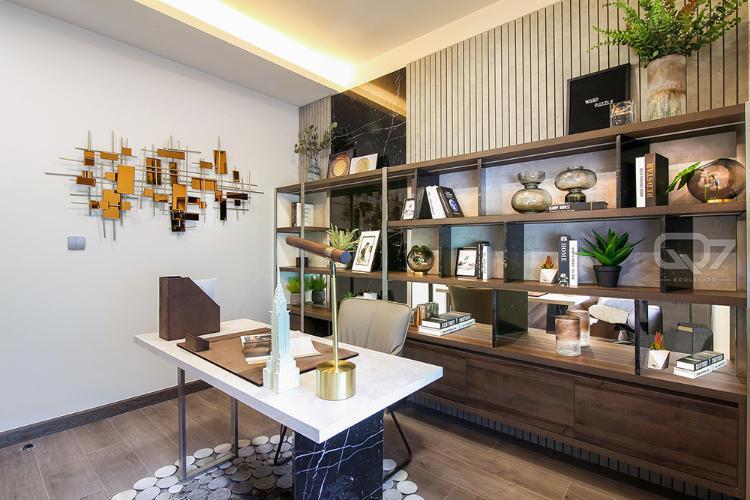 Phòng làm việc mẫu căn hộ Q7 Boulevard Bán căn hộ Q7 Boulevard, tầng trung, 2 phòng ngủ, diện tích 56.98m2, ban công hướng Nam