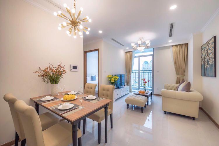 Phòng khách Căn hộ Vinhomes Central Park Căn hộ Vinhomes Central Park đầy đủ nội thất, view thoáng mát.