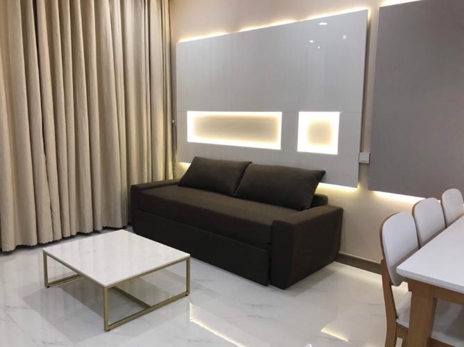 Phòng khách căn hộ Sunwah Pearl Căn hộ tầng 22 Sunwah Pearl đầy đủ tiện nghi cao cấp, hướng Tây Nam.