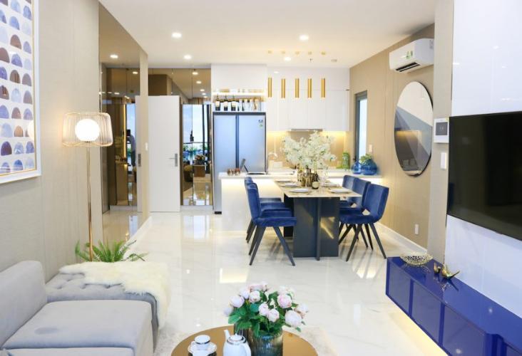 Phòng khách căn hộ Precia, Quận 2 Căn hộ tầng cao Precia view thoáng mát, nội thất cơ bản.