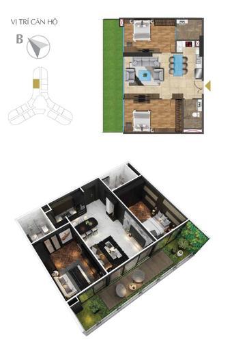 Căn hộ Sunshine Diamond River tầng trung thoáng mát, nội thất cơ bản.