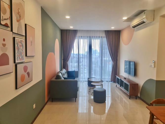 Phòng khách One Verandah Quận 2 Căn hộ One Verandah tầng trung, thiết kế năng động.