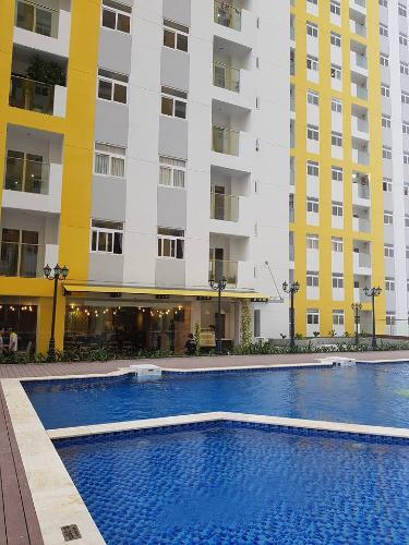 Hồ bơi căn hộ City Gate Căn hộ City Gate 2 phòng ngủ view nội khu hồ bơi thoáng mát.