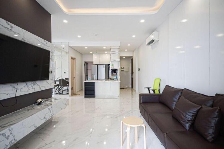 Phòng khách Phú Mỹ Hưng Midtown Căn hộ Phú Mỹ Hưng Midtown tầng thấp, đầy đủ nội thất, view nội khu.