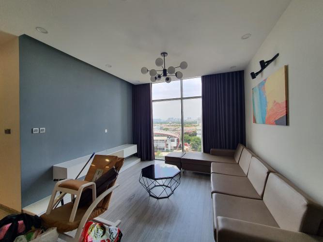 Căn hộ tầng 10 Chung cư Phú Mỹ cửa hướng Tây Bắc, đầy đủ nội thất.