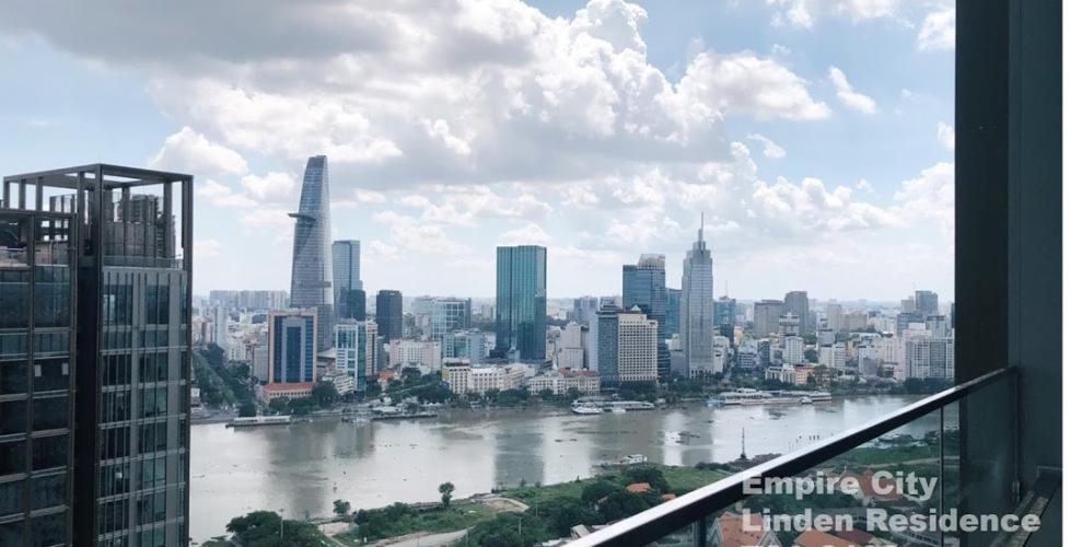 View căn hộ Empire City, Quận 2 Căn hộ Empire City tầng cao, view sông và Bitexco tuyệt đẹp.