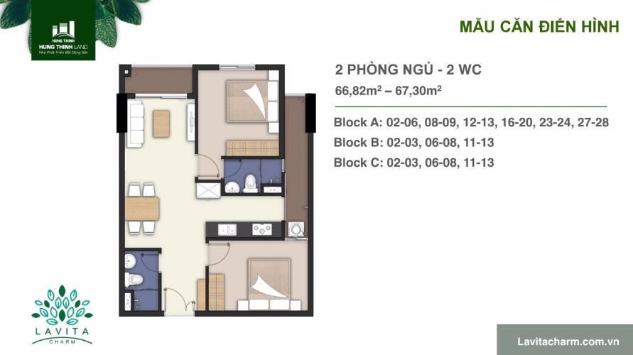 Căn hộ Lavita Charm tầng 14 nội thất cơ bản, tiện ích đầy đủ.