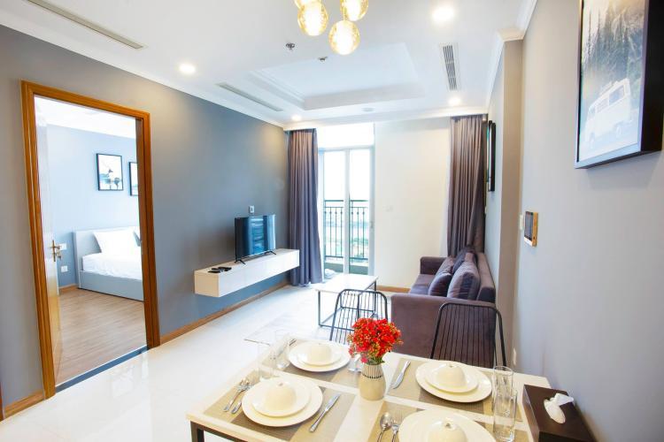 Phòng ăn căn hộ VINHOMES CENTRAL PARK Bán căn hộ Vinhomes Central Park 1PN, tầng cao, đầy đủ nội thất, view sông Sài Gòn và thành phố