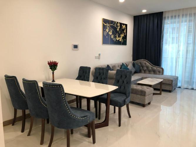 Căn hộ Sunwah Pearl tầng 17 nội thất đầy đủ, ban công hướng Đông Bắc