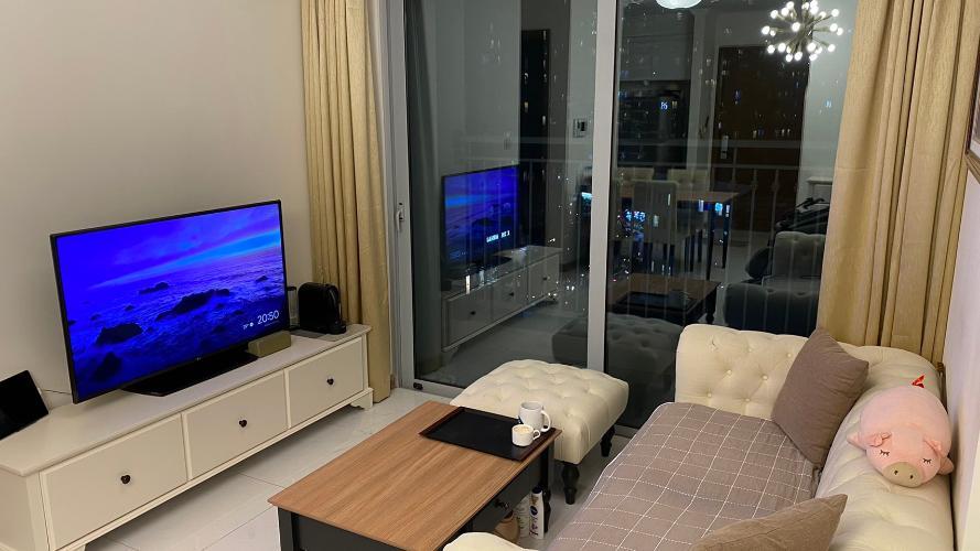 Phòng khách Căn hộ Vinhomes Central Park Căn hộ tầng 10 Vinhomes Central Park nội thất đầy đủ