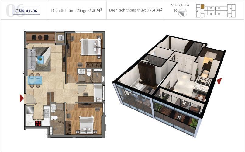 Office-tel Sunshine City Saigon thiết kế hiện đại và tinh tế.