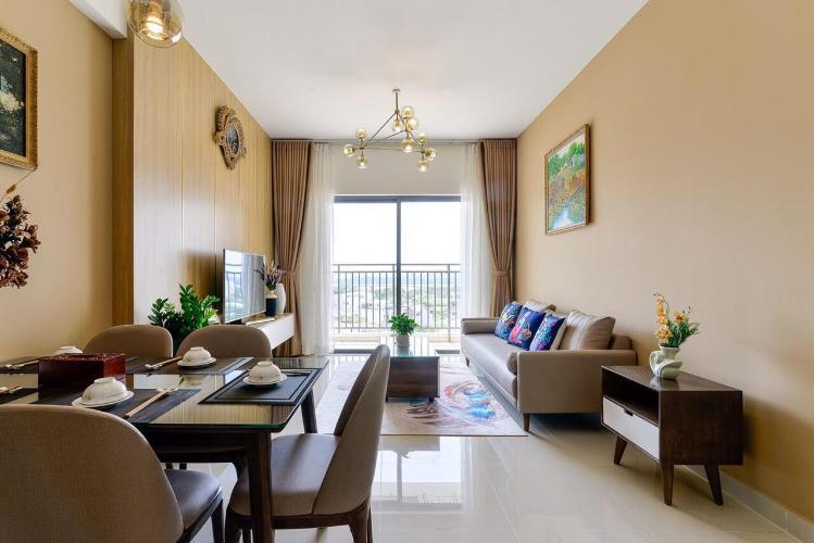 phòng khách căn hộ The Sun Căn hộ The Sun Avenue đầy đủ nội thất, view Landmark 81.