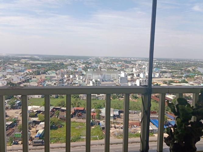 View căn hộ Tecco Town, Quận Bình Tân Căn hộ tầng 16 Tecco Town hướng Tây Bắc, đầy đủ nội thất.