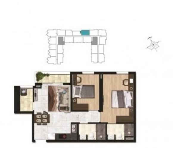 Căn hộ Asiana Capella tầng 12 thiết kế hiện đại, nội thất cơ bản.