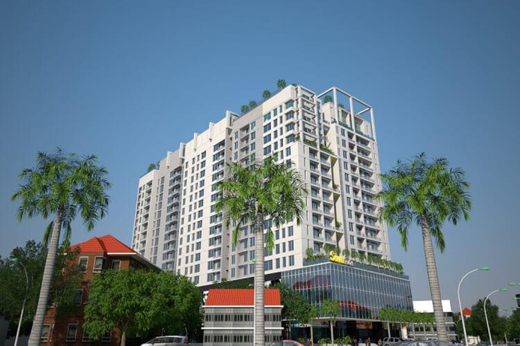 Sunny Plaza, Gò Vấp Căn hộ Sunny Plaza đầy đủ nội thất, hướng Đông Nam.