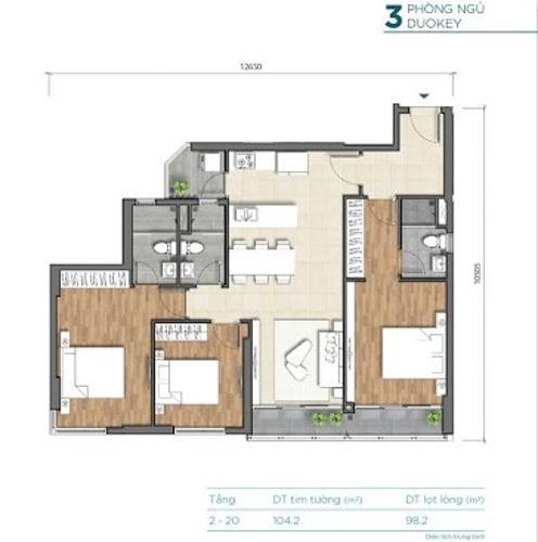 Căn hộ D'Lusso tầng 4 thiết kế vô cùng kỹ lưỡng, không có nội thất.