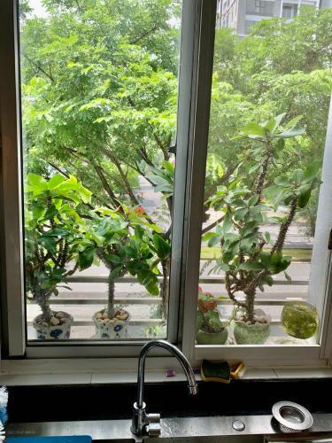 Ban công căn hộ chung cư Mỹ Khang Căn hộ chung cư Mỹ Khang tầng thấp view nội khu, hướng Tây.