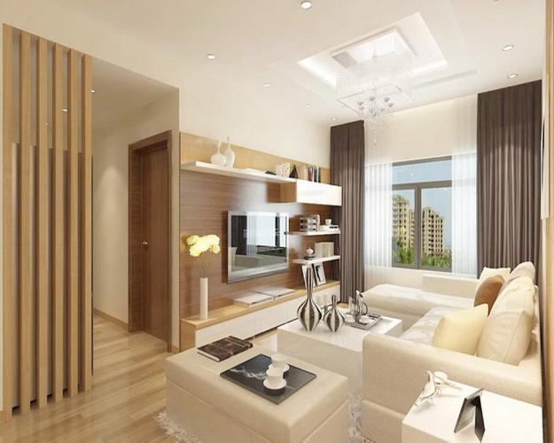 Phòng khách căn hộ Feliz en Vista Căn hộ Feliz En Vista tầng cao nội thất cơ bản, view thành phố.