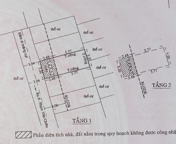 thông tin nhà phố Nhà phố hướng cửa Tây Nam diện tích sử dụng 37m2, sổ hồng riêng.
