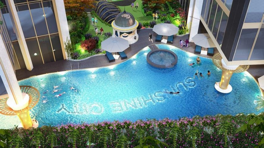 Hồ bơi Sunshine City Sài Gòn, Quận 7 Căn hộ Sunshine City Saigon tầng trung, nội thất cơ bản bàn giao