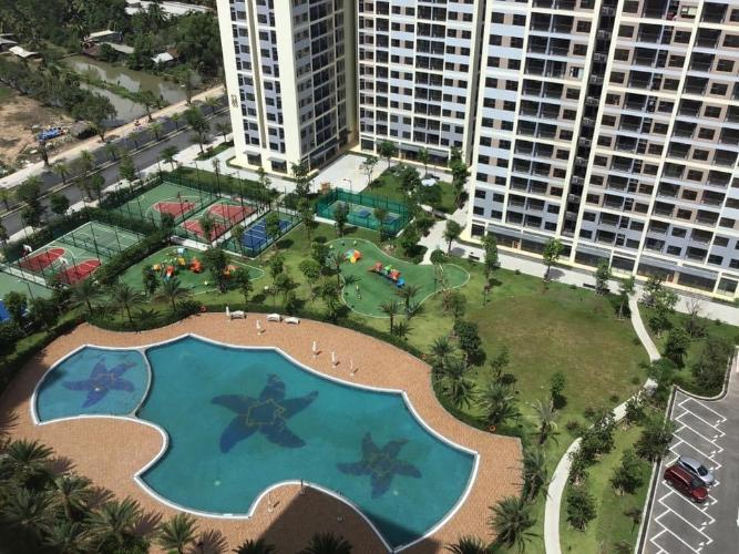 Hồ bơi căn hộ Vinhomes Grand Park Bán căn hộ 1 phòng ngủ Vinhomes Grand Park tầng cao, thiết kế hiện đại, view đẹp.