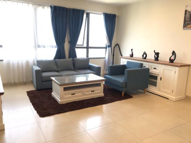 Căn hộ Masteri Thảo Điền tầng 24 có 3 phòng ngủ, nội thất đầy đủ.
