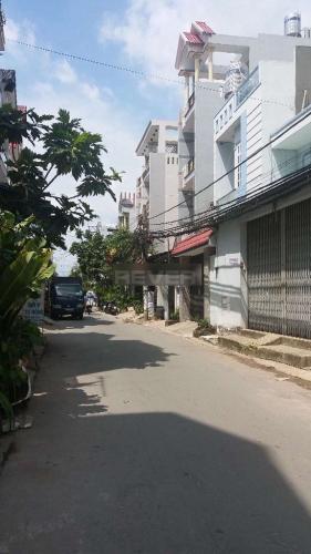 Đường nhà phố Nhà phố cửa chính hướng Tây kết cấu 4 tầng, đường xe tải rộng.