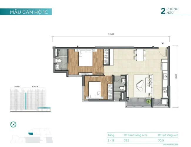 layout căn số 9 tháp B dự án D'Lusso quận 2 Căn hộ tầng thấp D'Lusso nội thất cơ bản, view thoáng mát.