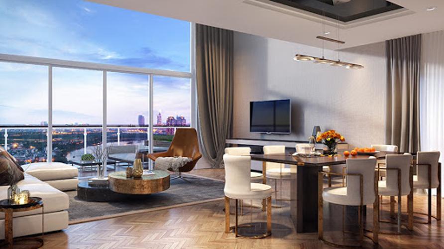Nhà mẫu Penthouse Masteri Thảo Điền , Quận 2 Penthouse Masteri Thảo Điền ban công Đông Nam view thoáng mát.
