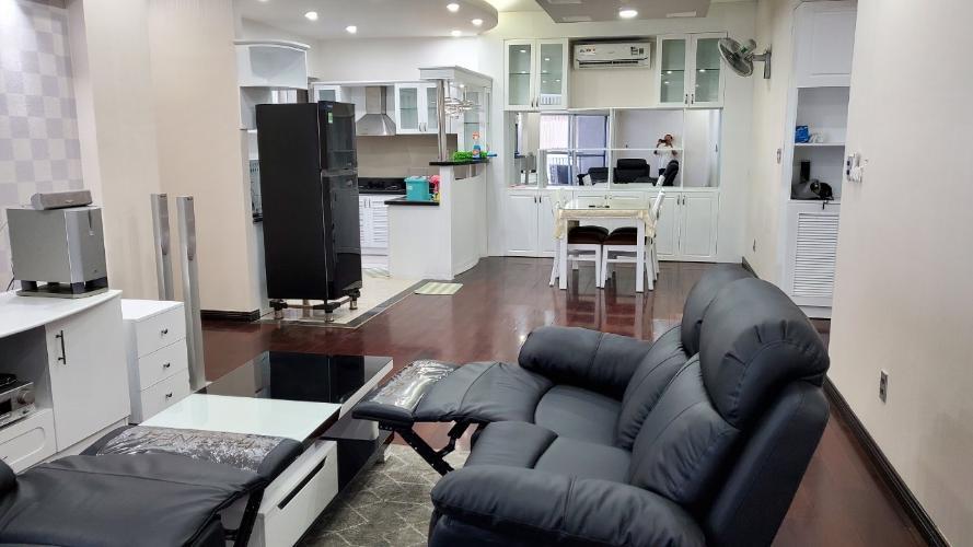 Phòng khách Green View, Quận 7 Căn hộ Green View đầy đủ nội thất, view nội khu.