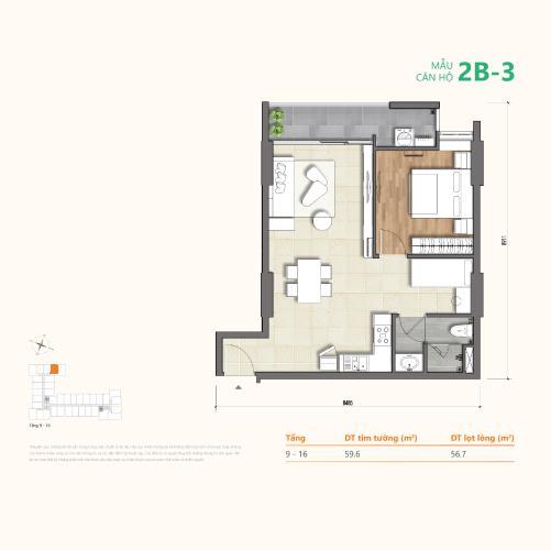 Căn hộ tầng 12 Ricca cửa hướng Nam, bàn giao nội thất cơ bản