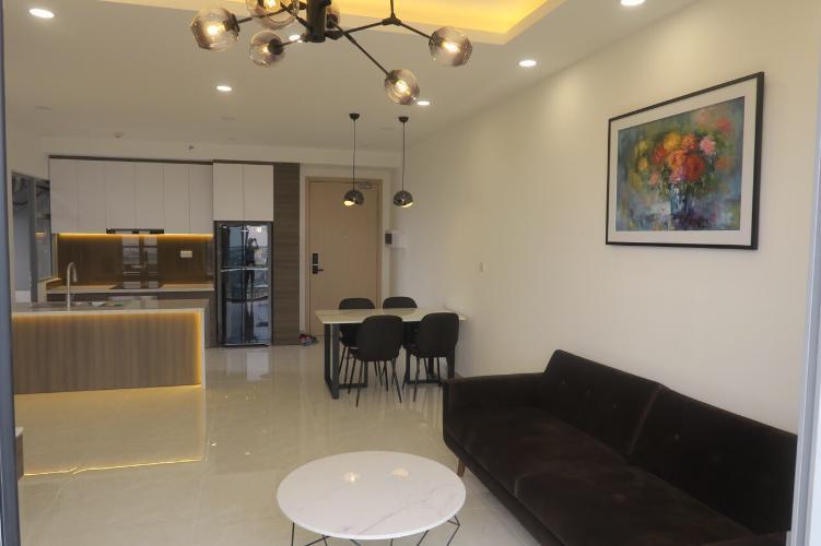 Căn hộ tầng 25 Palm Heights cửa hướng Tây Nam, đầy đủ nội thất.