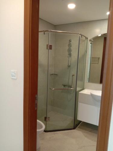 Phòng tắm Vinhomes Central Park Căn hộ Vinhomes Central Park tầng cao, ban công hướng Đông Nam.