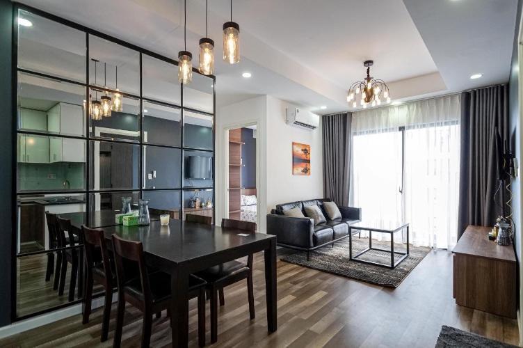 Cho thuê căn hộ M-One Nam Sài Gòn 3PN, đầy đủ nội thất, full sàn gỗ, ban công hướng Nam